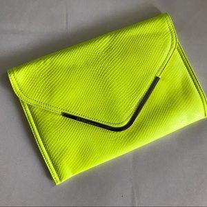 Bcbg clutch yellow neon color
